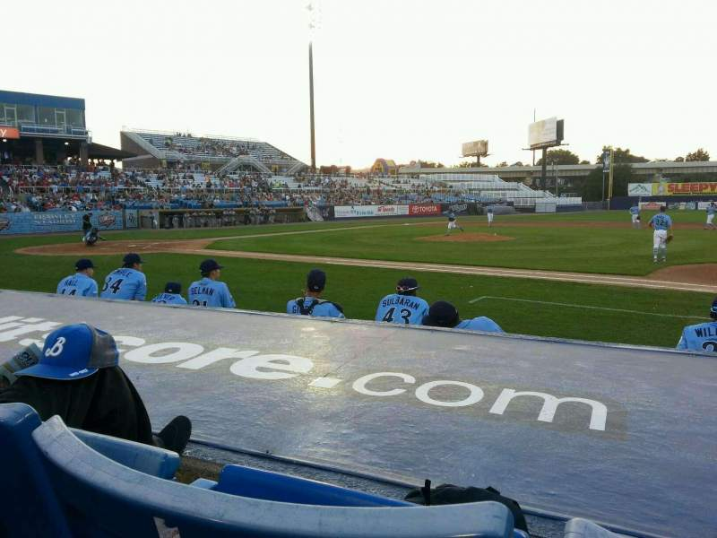 Seating view for Frawley Stadium Section 7 Row 2 Seat 6