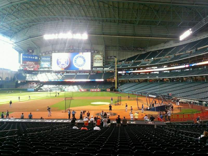 Seating view for Minute Maid Park Section 114 Row 30 Seat 10