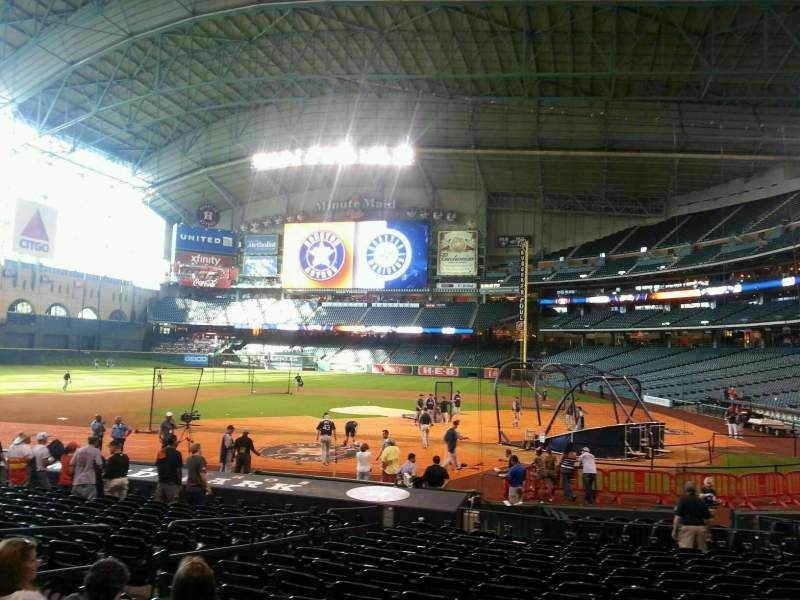 Seating view for Minute Maid Park Section 116 Row 20 Seat 6