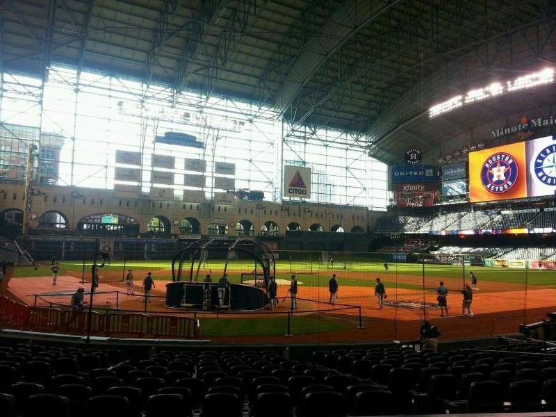 Seating view for Minute Maid Park Section 120 Row 16 Seat 8