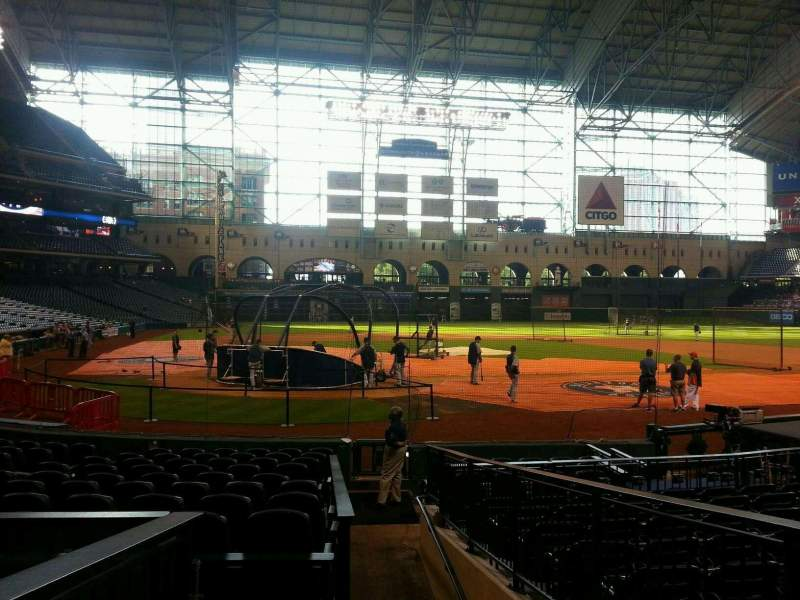 Seating view for Minute Maid Park Section 122 Row 14 Seat 1