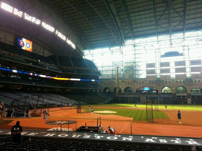 Seating view for Minute Maid Park Section 125 Row 16 Seat 12
