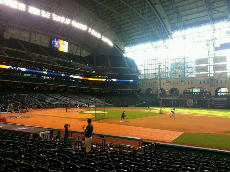 Seating view for Minute Maid Park Section 126 Row 14 Seat 10