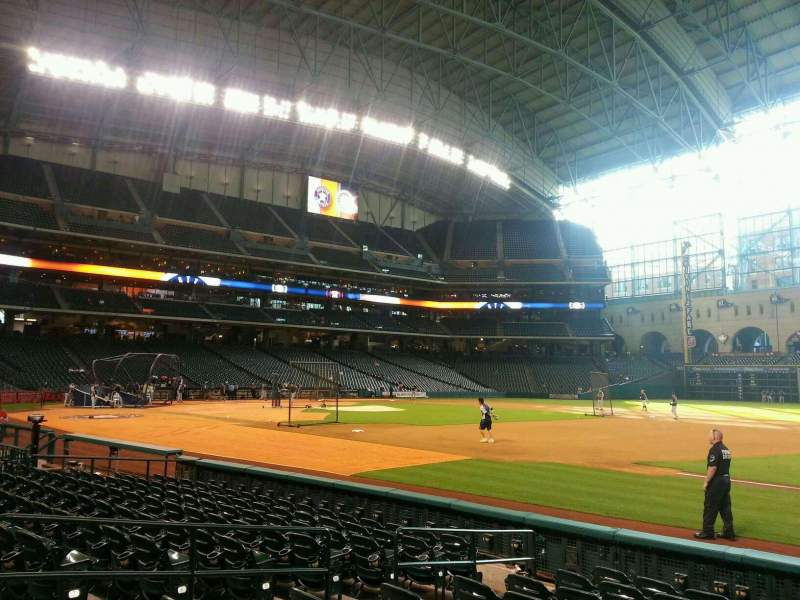 Seating view for Minute Maid Park Section 127 Row 10 Seat 8