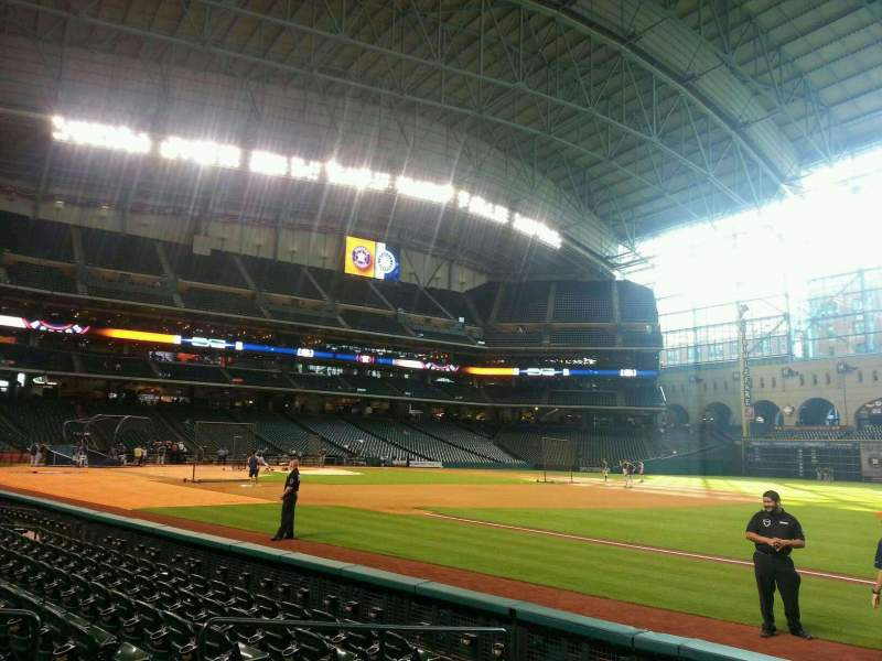 Seating view for Minute Maid Park Section 129 Row 7 Seat 7