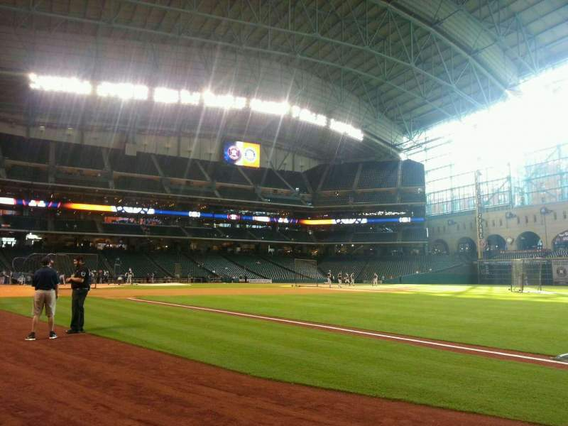 Seating view for Minute Maid Park Section 131 Row 1 Seat 5