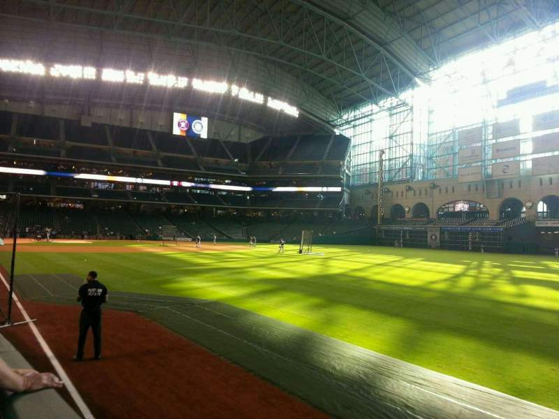 Seating view for Minute Maid Park Section 134 Row 12 Seat 7