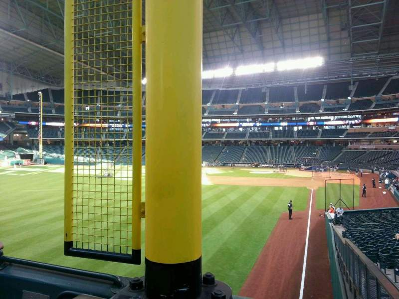 Seating view for Minute Maid Park Section 104 Row 3 Seat 3
