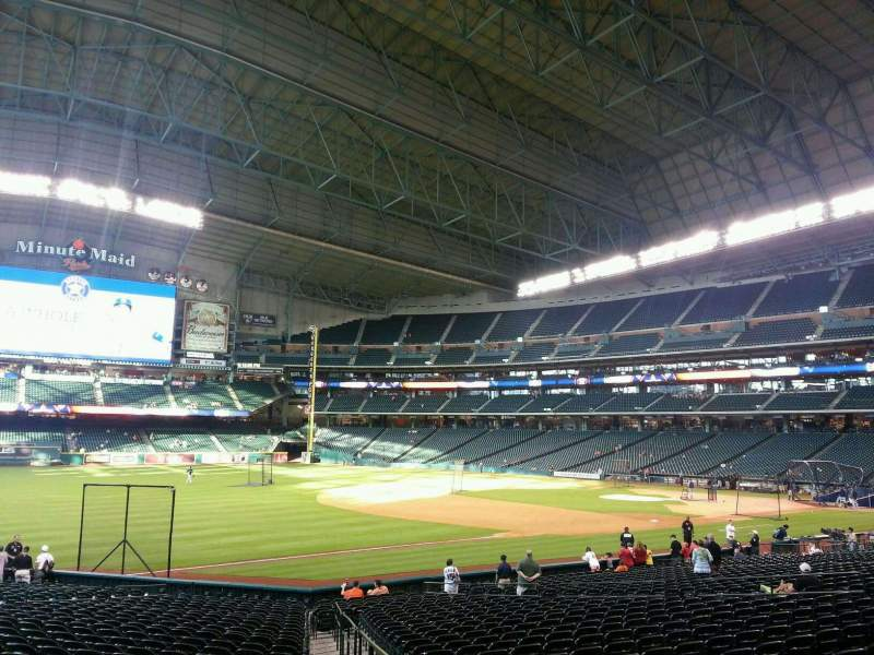 Seating view for Minute Maid Park Section 108 Row 27 Seat 1
