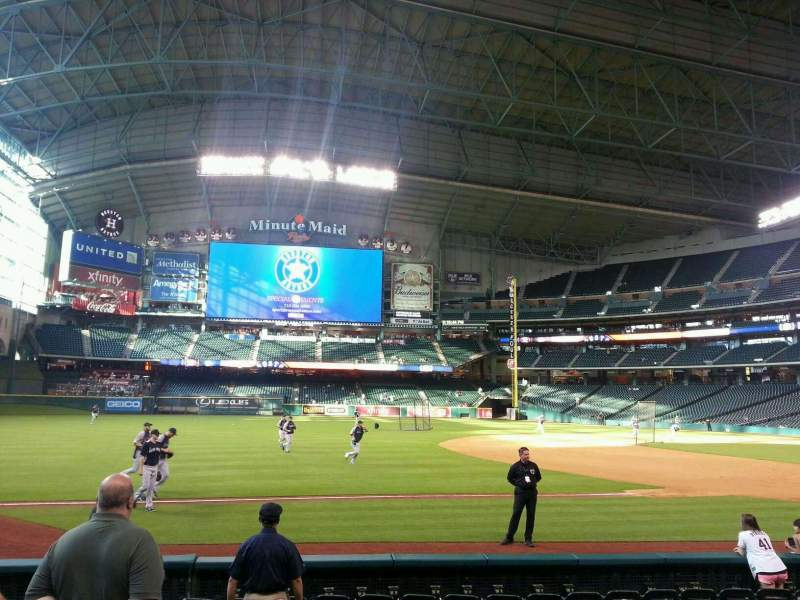 Seating view for Minute Maid Park Section 110 Row 11 Seat 3