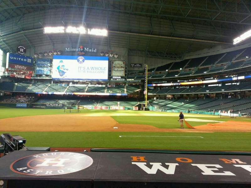 Seating view for Minute Maid Park Section 112 Row 8 Seat 11