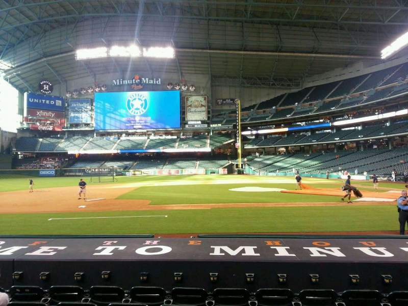 Seating view for Minute Maid Park Section 113 Row 11 Seat 10