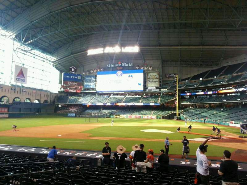 Seating view for Minute Maid Park Section 114 Row 18 Seat 8