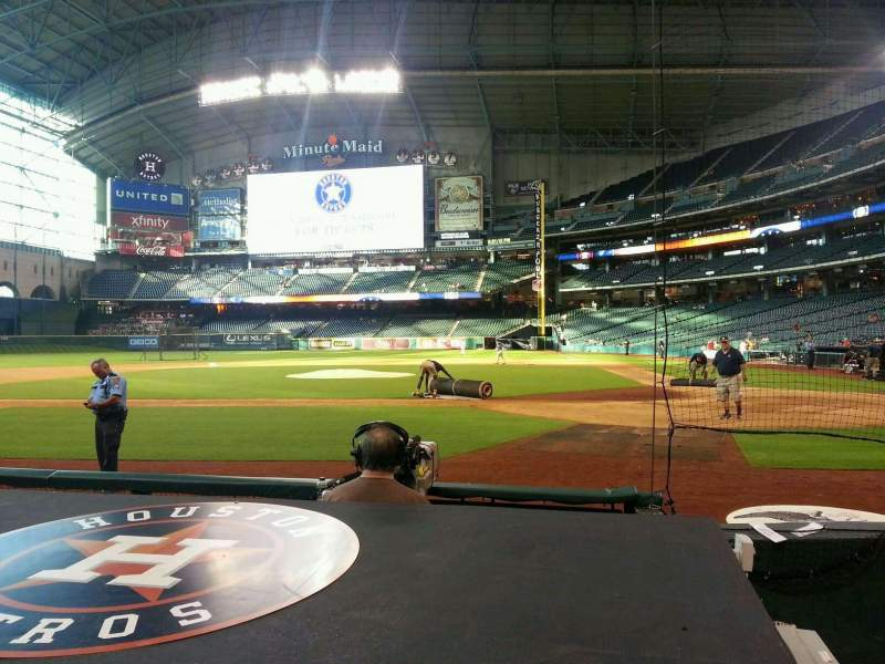 Seating view for Minute Maid Park Section 116 Row 2 Seat 1