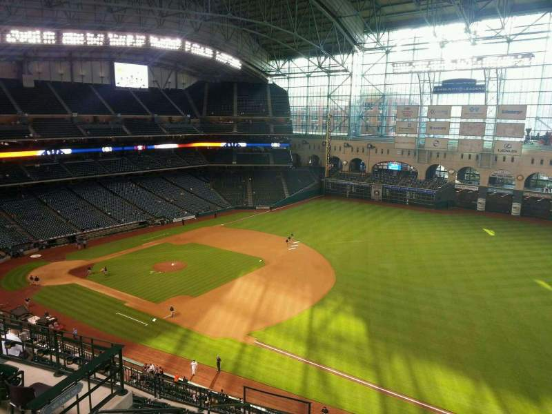 Seating view for Minute Maid Park Section 430 Row 1 Seat 6