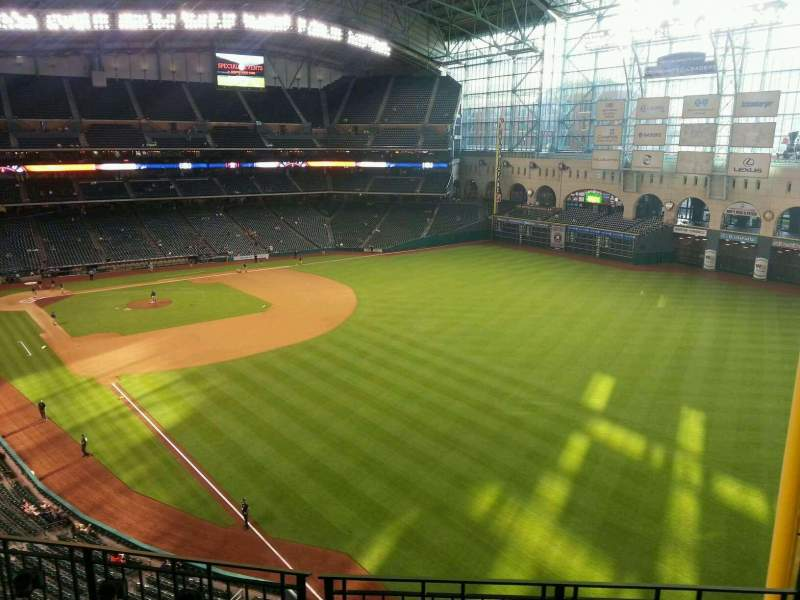 Seating view for Minute Maid Park Section 336 Row 4 Seat 13