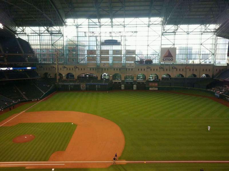 Seating view for Minute Maid Park Section 327 Row 4 Seat 10