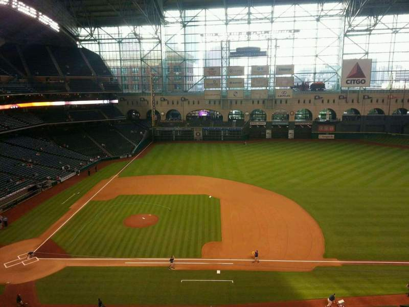 Seating view for Minute Maid Park Section 326 Row 3 Seat 12