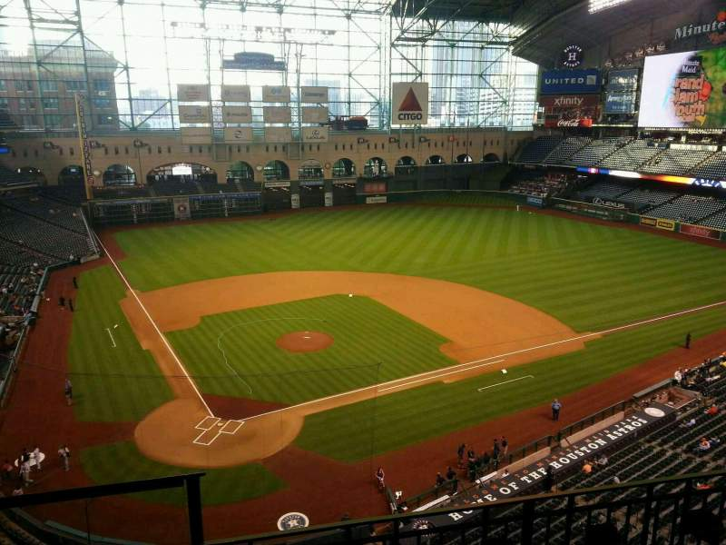 Seating view for Minute Maid Park Section 323 Row 3 Seat 1