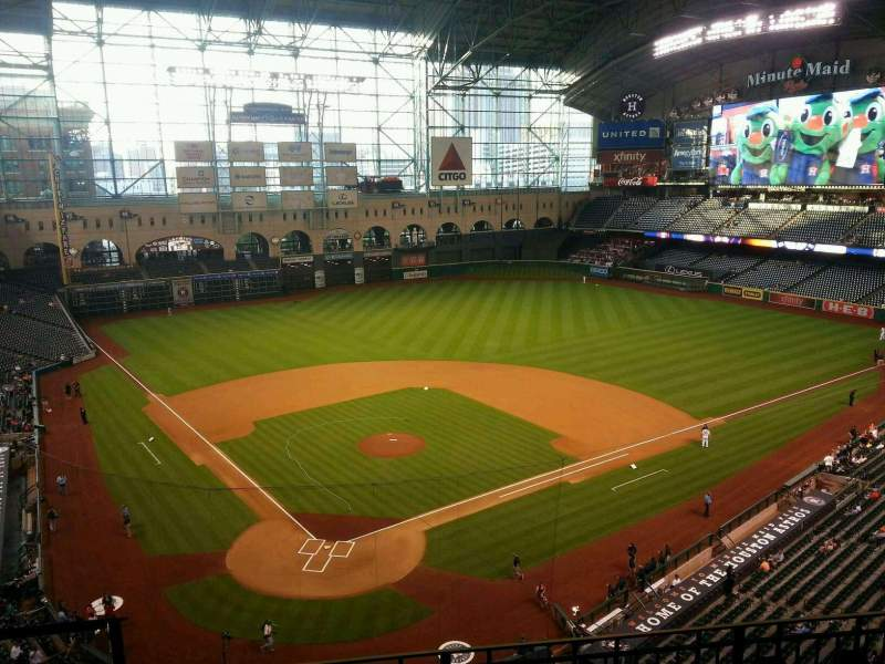 Seating view for Minute Maid Park Section 322 Row 4 Seat 3