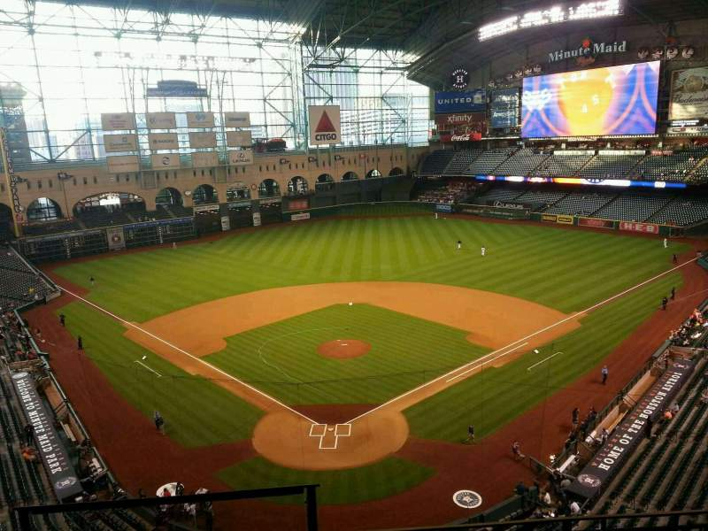 Seating view for Minute Maid Park Section 320 Row 4 Seat 1