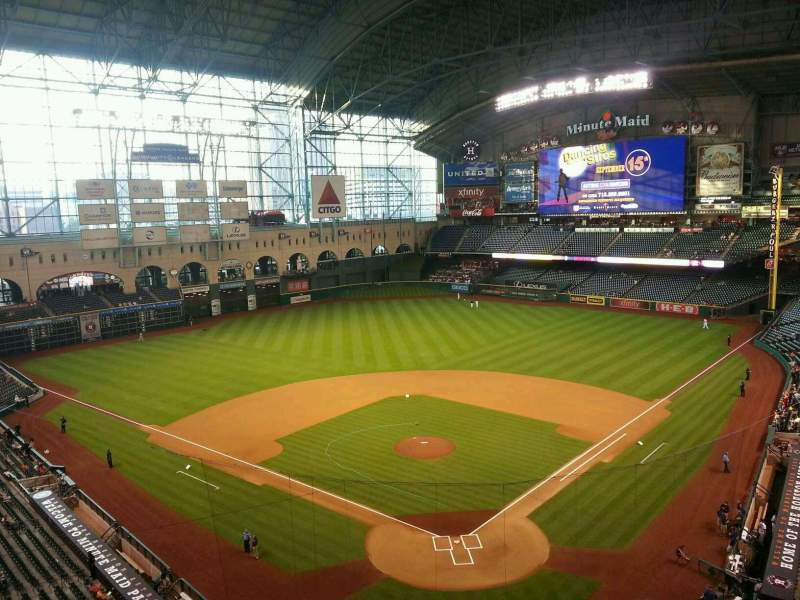 Seating view for Minute Maid Park Section 318 Row 4 Seat 13
