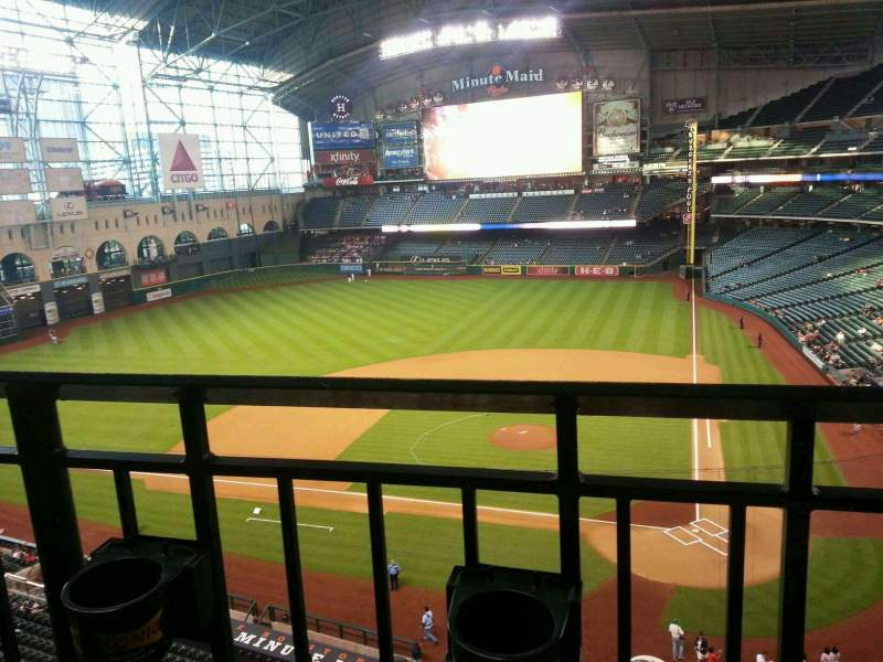 Seating view for Minute Maid Park Section 315 Row 1 Seat 12