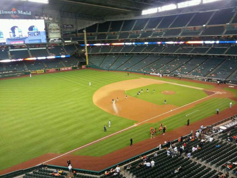 Seating view for Minute Maid Park Section 308 Row 1 Seat 21