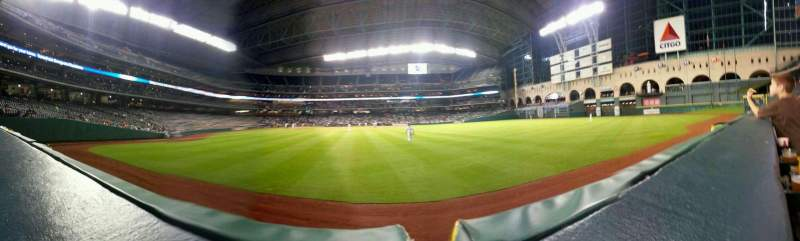 Seating view for Minute Maid Park Section 153 Row 1 Seat 7