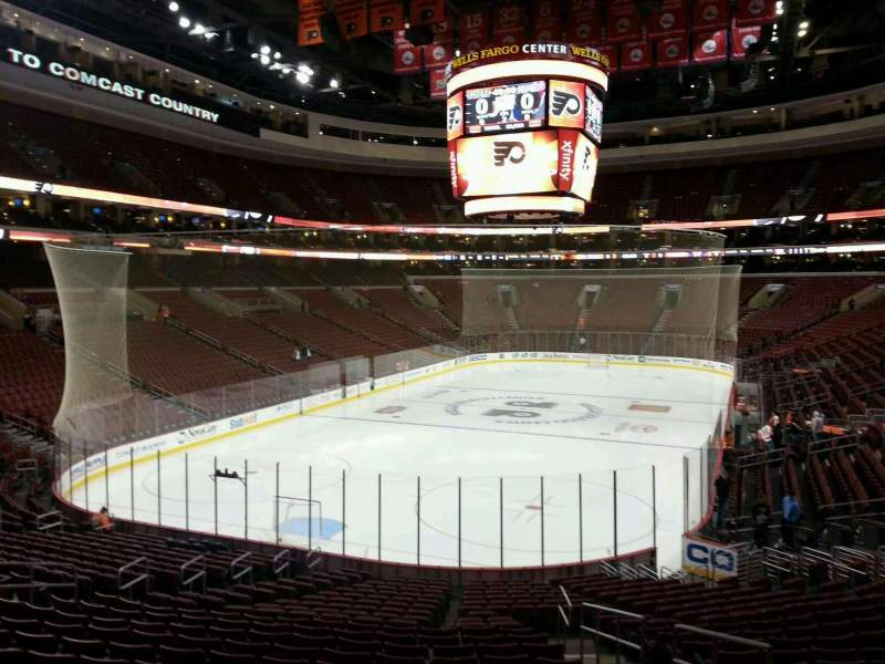 Seating view for Wells Fargo Center Section 120 Row 23 Seat 176