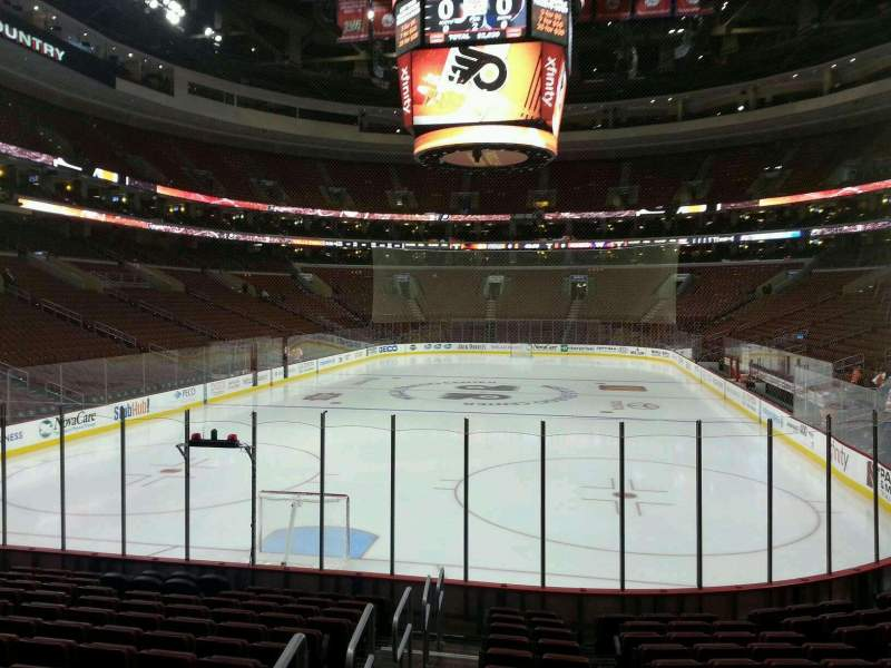 Seating view for Wells Fargo Center Section 120 Row 13 Seat 1