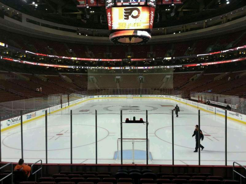 Seating view for Wells Fargo Center Section 119 Row 11 Seat 8