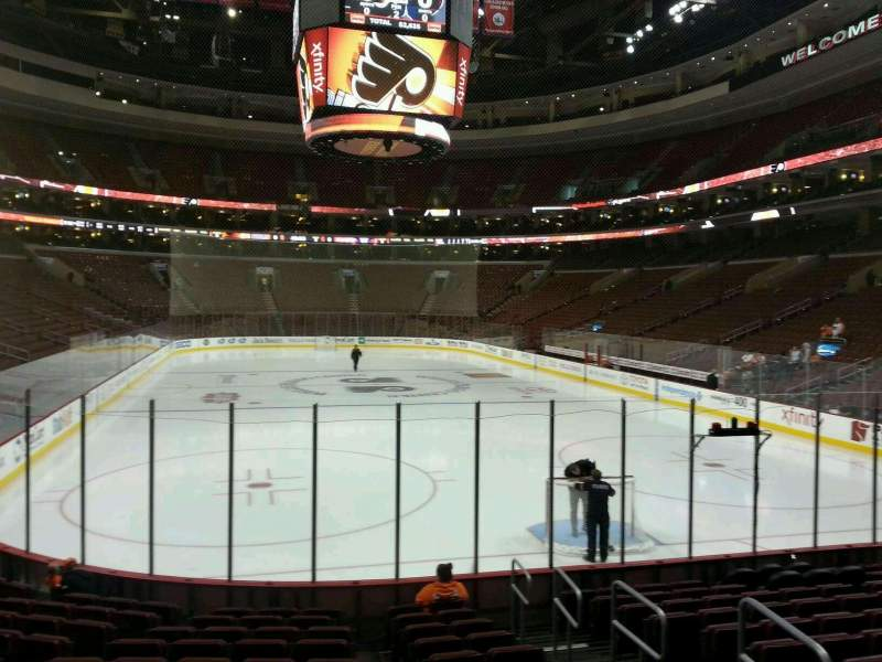 Seating view for Wells Fargo Center Section 118 Row 12 Seat 20