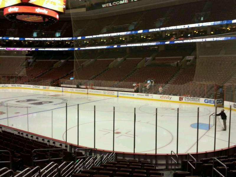 Seating view for Wells Fargo Center Section 116 Row 14 Seat 10