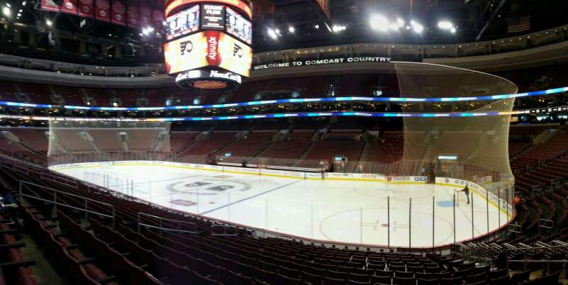 Seating view for Wells Fargo Center Section 115 Row 16 Seat 14