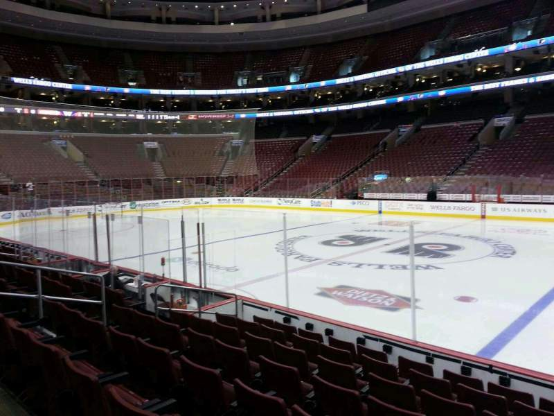 Seating view for Wells Fargo Center Section 114 Row 8 Seat 12