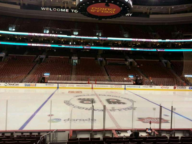 Seating view for Wells Fargo Center Section 113 Row 12 Seat 1