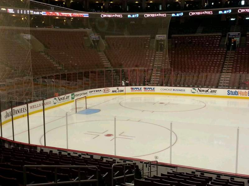 Seating view for Wells Fargo Center Section 112 Row 15 Seat 6