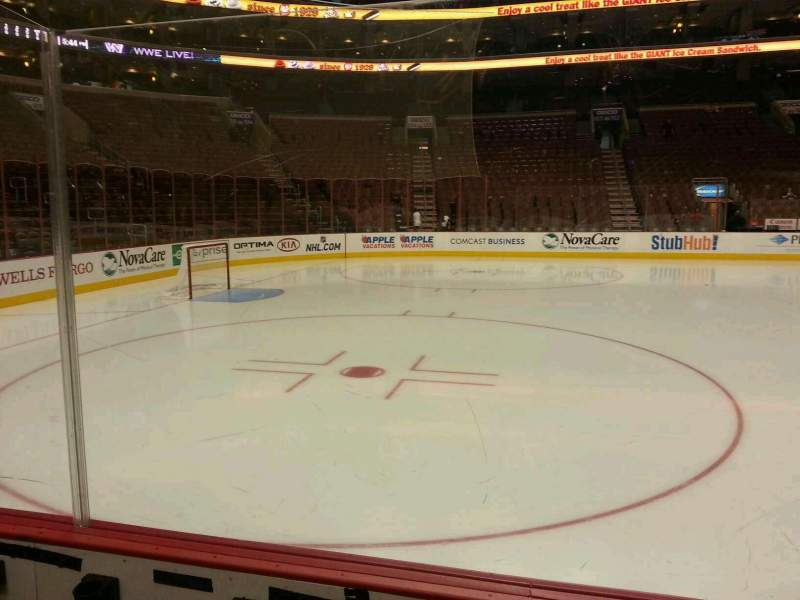 Seating view for Wells Fargo Center Section 111 Row 3 Seat 10
