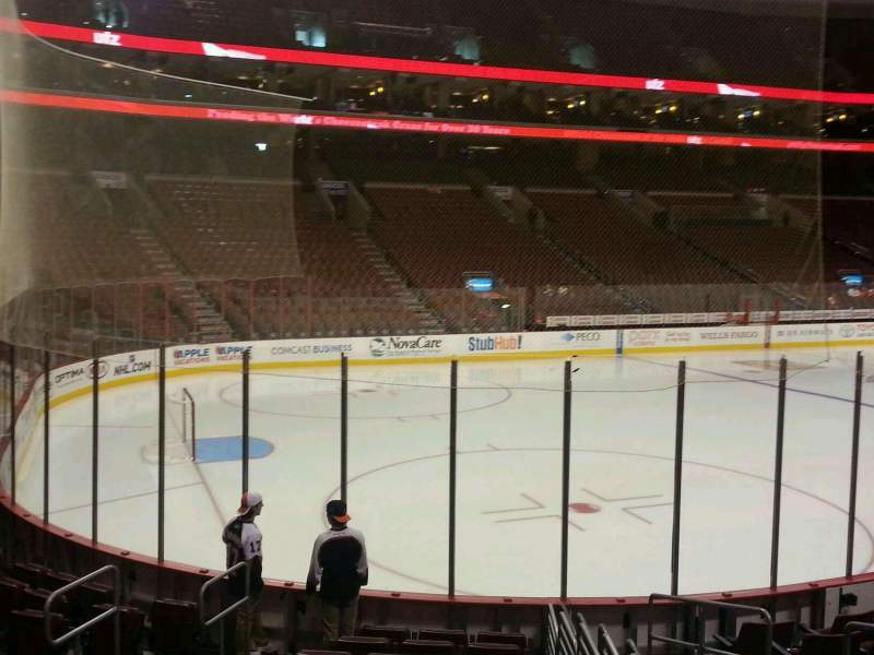 Seating view for Wells Fargo Center Section 110 Row 11 Seat 8