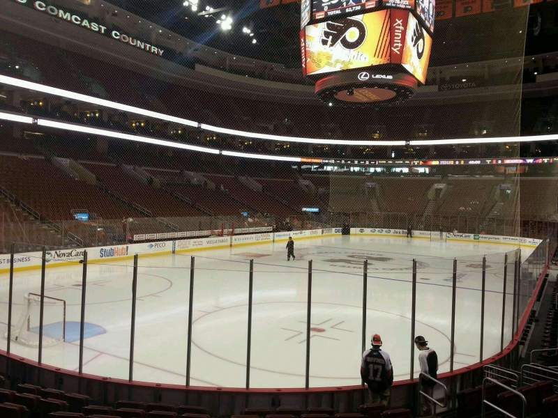 Seating view for Wells Fargo Center Section 109 Row 11 Seat 4