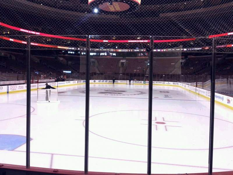 Seating view for Wells Fargo Center Section 108 Row 4 Seat 4