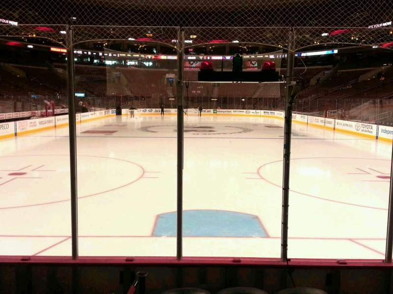 Seating view for Wells Fargo Center Section 107 Row 4 Seat 6