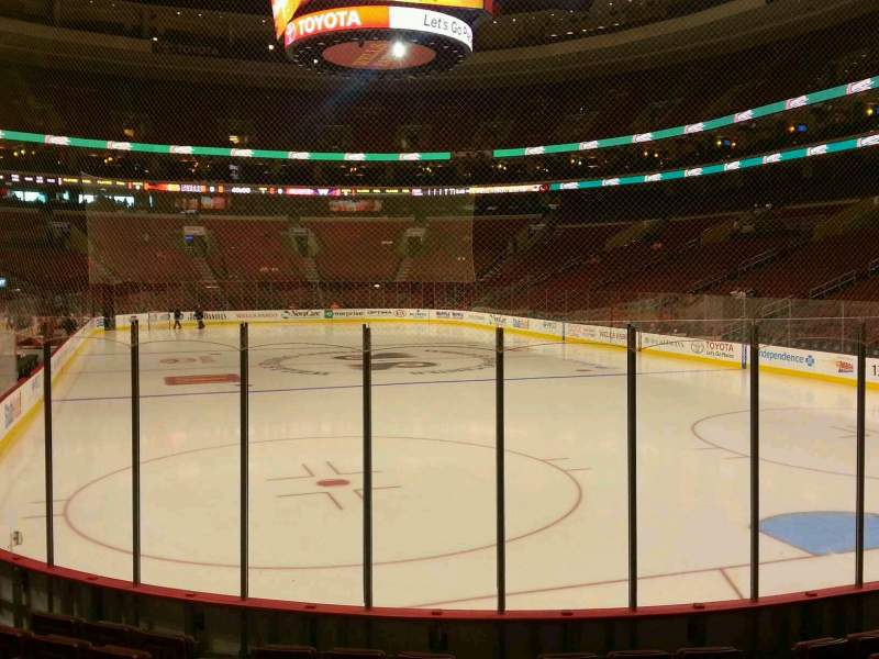 Seating view for Wells Fargo Center Section 106 Row 9 Seat 2