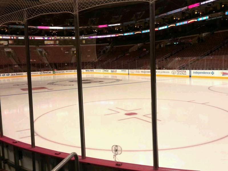 Seating view for Wells Fargo Center Section 105 Row 4 Seat 1
