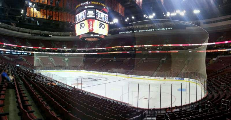 Seating view for Wells Fargo Center Section 104 Row 14 Seat 10