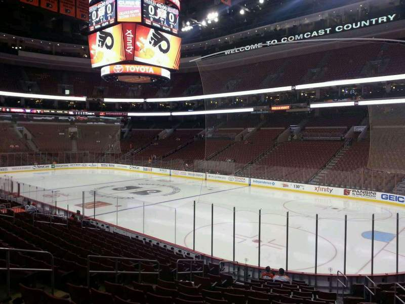 Seating view for Wells Fargo Center Section 104 Row 17 Seat 10