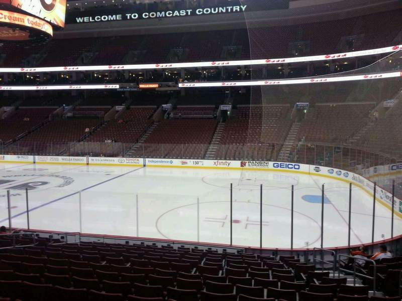 Seating view for Wells Fargo Center Section 103 Row 15 Seat 14