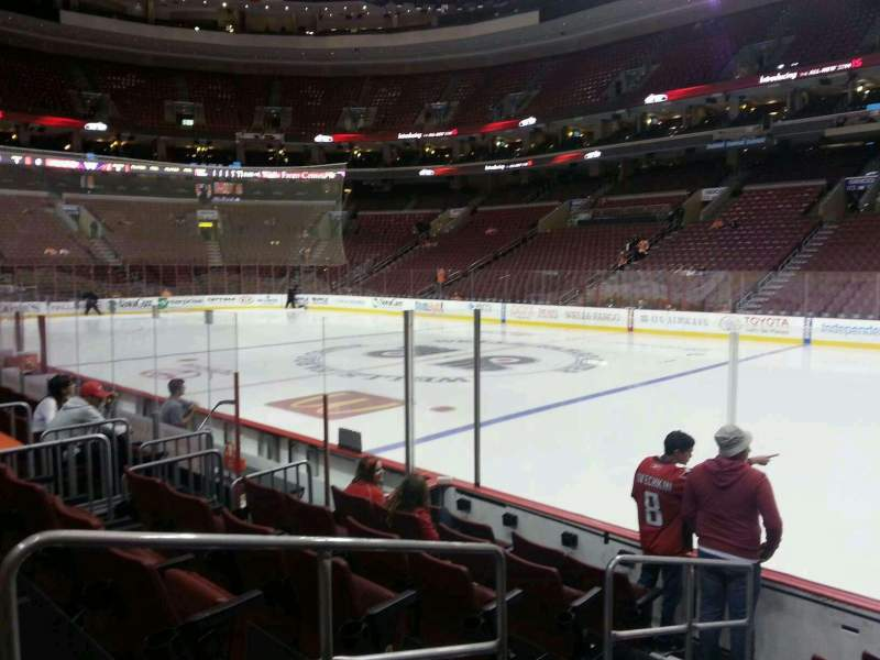 Seating view for Wells Fargo Center Section 103 Row 7 Seat 3