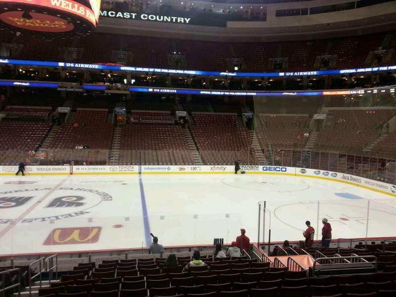 Seating view for Wells Fargo Center Section 103 Row 16 Seat 4